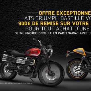 900€ de remise sur votre permis moto